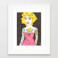 hipster lion Framed Art Prints featuring Hipster Prom by Insomnious