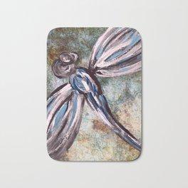 Rustic Dragonfly Art Bath Mat