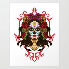 Santa Muerte - La Calavera Catrina - Sugar Skull Art Print