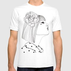 A Rose MEDIUM Mens Fitted Tee White