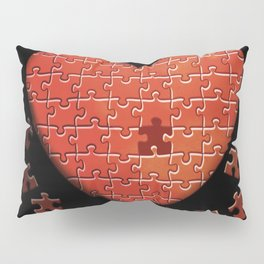 Puzzle Heart Pillow Sham