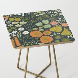 Botanical Sketchbook M+M Navy by Friztin Side Table