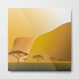 Masai Mara Sunset Metal Print