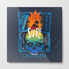 surf california - surf issue Metal Print