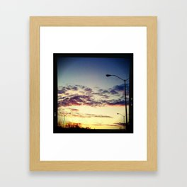 Redmond Square Sundown Framed Art Print