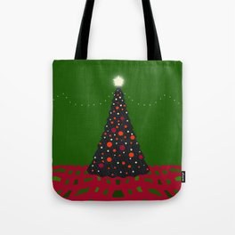 Christmas Tree with Glowing Star Tote Bag