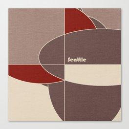 Seattle Mosaic Canvas Print