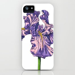 Color of my Iris iPhone Case