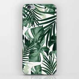 Tropical Jungle Leaves Pattern #4 #tropical #decor #art #society6 iPhone Skin