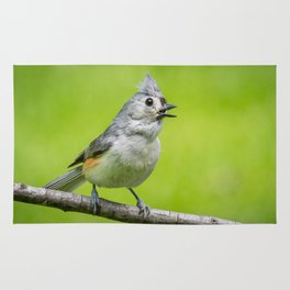 Tufted titmouse Rug