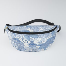 chinoiserie toile blue Fanny Pack