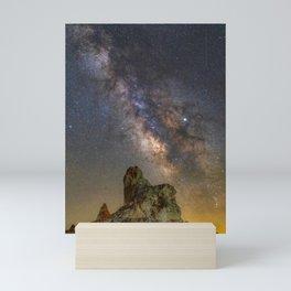 Milky Way over Trona Pinnacles Mini Art Print