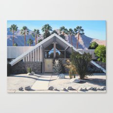 Swiss Miss House and Palms Canvas Print
