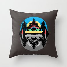 Bear Camp Throw Pillow