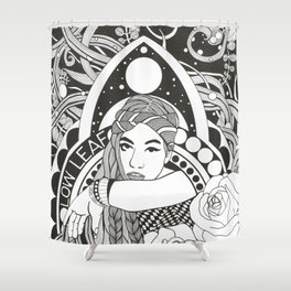 Hommage to Low Leaf Shower Curtain