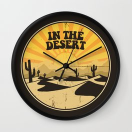 IN THE DESERT Wall Clock