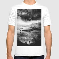 The Fisherman's son who wanted to be a mountaineer! White Mens Fitted Tee MEDIUM