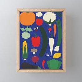 Veggie Poster Framed Mini Art Print