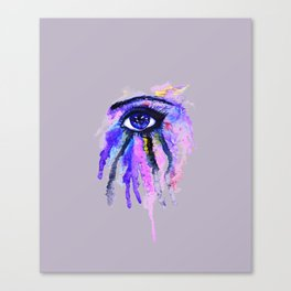 Blue eye splashing Canvas Print