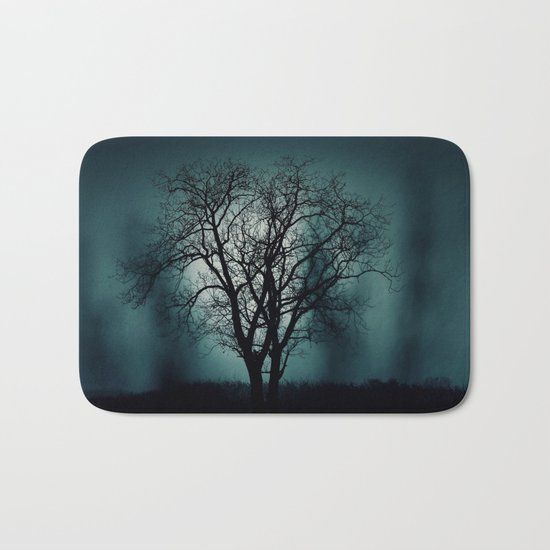 Black Tree Bath Mat