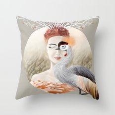 Bird Crane Throw Pillow