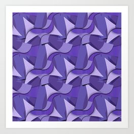 Ultra Violet Abstract Waves Art Print