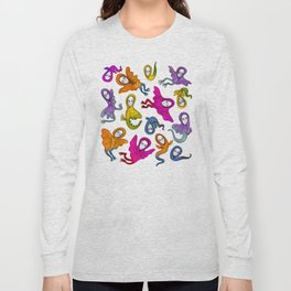 colorful flying witches Long Sleeve T-shirt