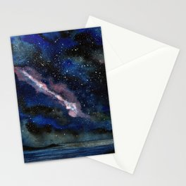 Light show in the dark Stationery Cards