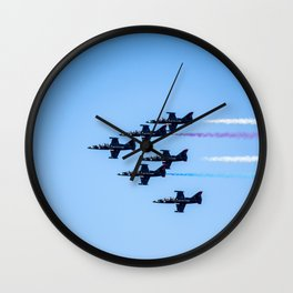 Patriots Jets in Formation Wall Clock