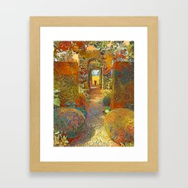 Garden Path Framed Art Print