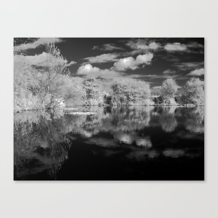 Dark reflections. Canvas Print