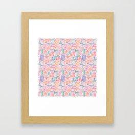 Bakery in Coral Framed Art Print