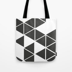 T R I _ N G L S (BLK) Tote Bag