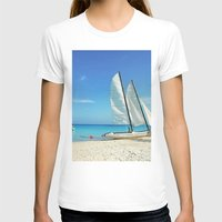 cuba T-shirts featuring Cuba Beach by Parrish