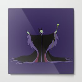 Maleficent Casting A Spell Metal Print
