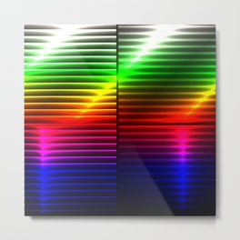 Abstract rainbow with reflex: optical colorful illusion for your best chromotherapy Metal Print