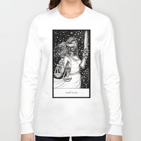 tarot Long Sleeve T-shirts featuring Justice Tarot by Corinne Elyse