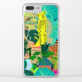 Maximalist Boho Jungle Clear iPhone Case