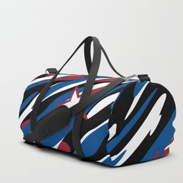 Patriotic Camouflage Red White and Blue with Stars American Pride Abstract Pattern Duffle Bag