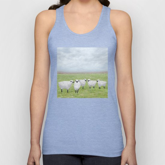sheep and queen anne's lace by sarahknight