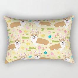 Welsh Corgi easter cute costume easter bunny corgis spring dog gifts Rectangular Pillow