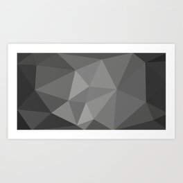 Polygon art 01 Art Print