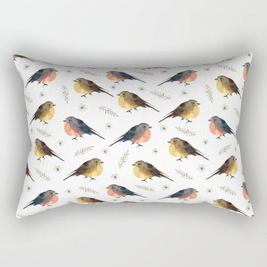 Watercolor birds Rectangular Pillow