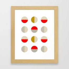 circles-scarlet Framed Art Print