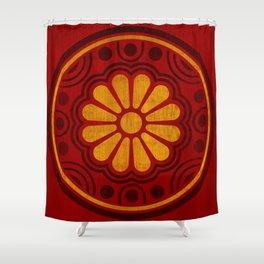 Kamon Alma –Red Shower Curtain
