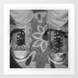 Ratty Converse Art Print