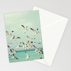 Seagulls in Flight Stationery Cards