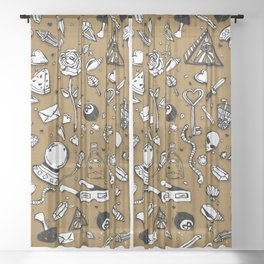 magical things pattern 1 Sheer Curtain