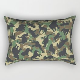 Animals Wild Animal Camo Forest Woodland Camouflage Pattern Rectangular Pillow