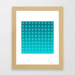 Moonlight Stars - Turquoise Gradient Framed Art Print